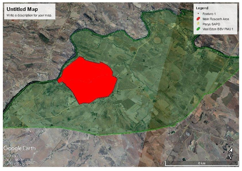 Maps - Brown Hyena Research - Dell Cheetah Centre